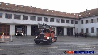 [Gong + Oldtimer im Löschzug] ELW-TE + Löschzug mit Kraftleiter 26 BF Darmstadt