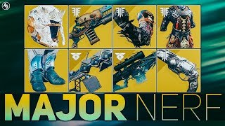 Destiny 2 MAJOR Nerfs (Ace of Spades, Whisper of the Worm, Lord of Wolves, Sleeper and More)