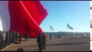 La bandera más grande del Gober de Durango
