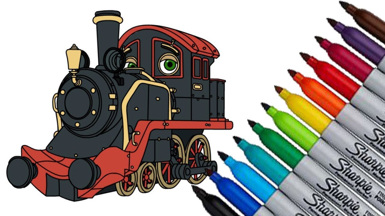 Chuggington Old Puffer How to draw and coloring fun new Hd video for ...