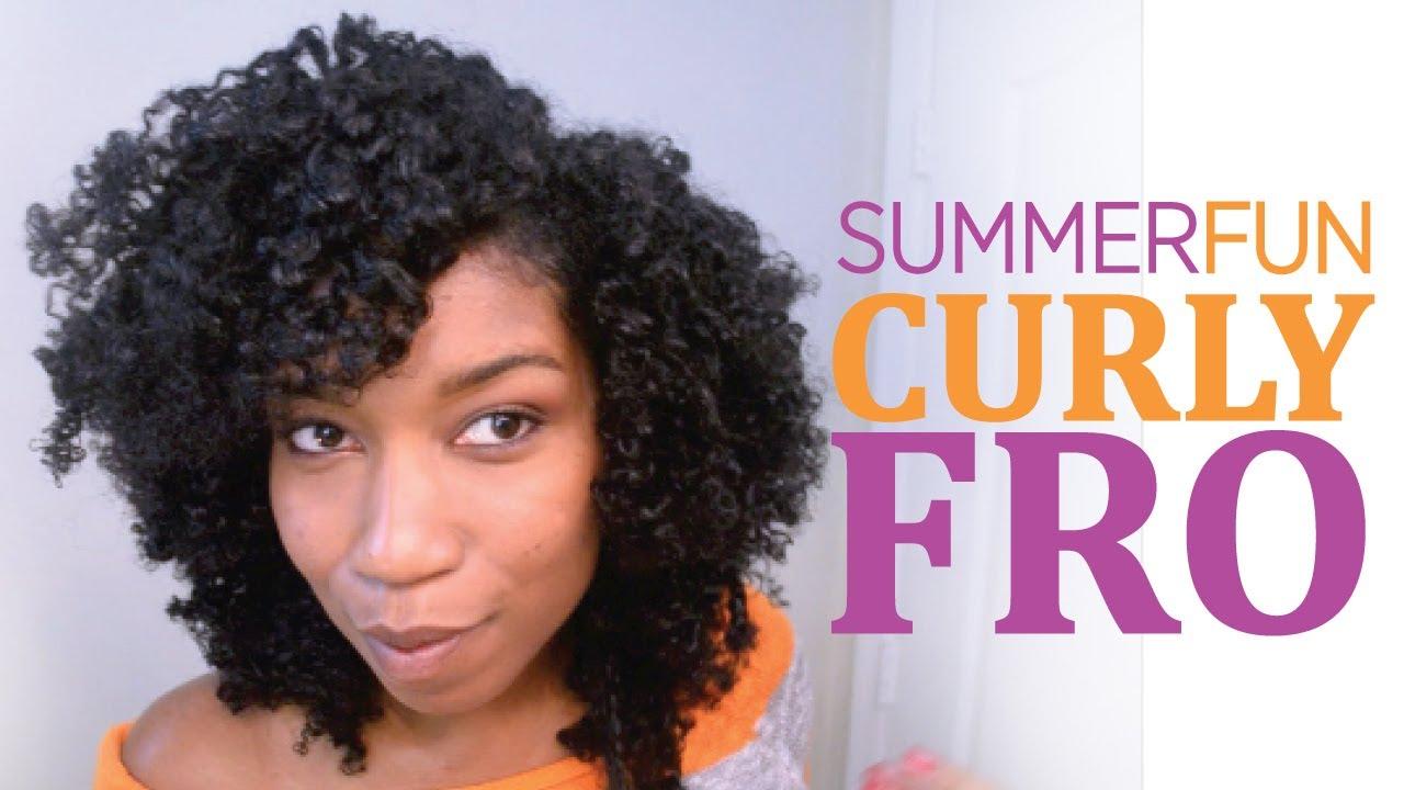 "summer fun curly fro ""natural hair"""