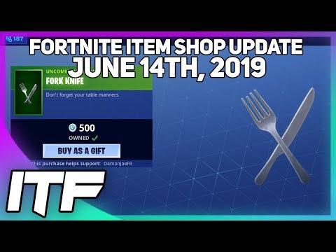 Fortnite Item Shop *NEW* FORK KNIFE HARVESTING TOOL! [June 14th, 2019] (Fortnite Battle Royale)