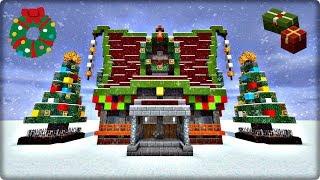 【マインクラフト】クリスマスな家を建築してみる【家の作り方】