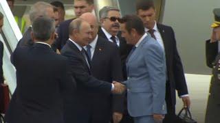 Смотреть видео Путин прибыл в Анкару на саммит России, Турции и Ирана по Сирии онлайн