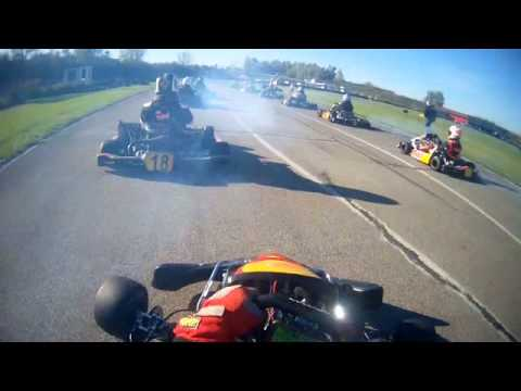 Course Karting ASK chateau Gaillard du 19 Octobre 2014 - YouTube
