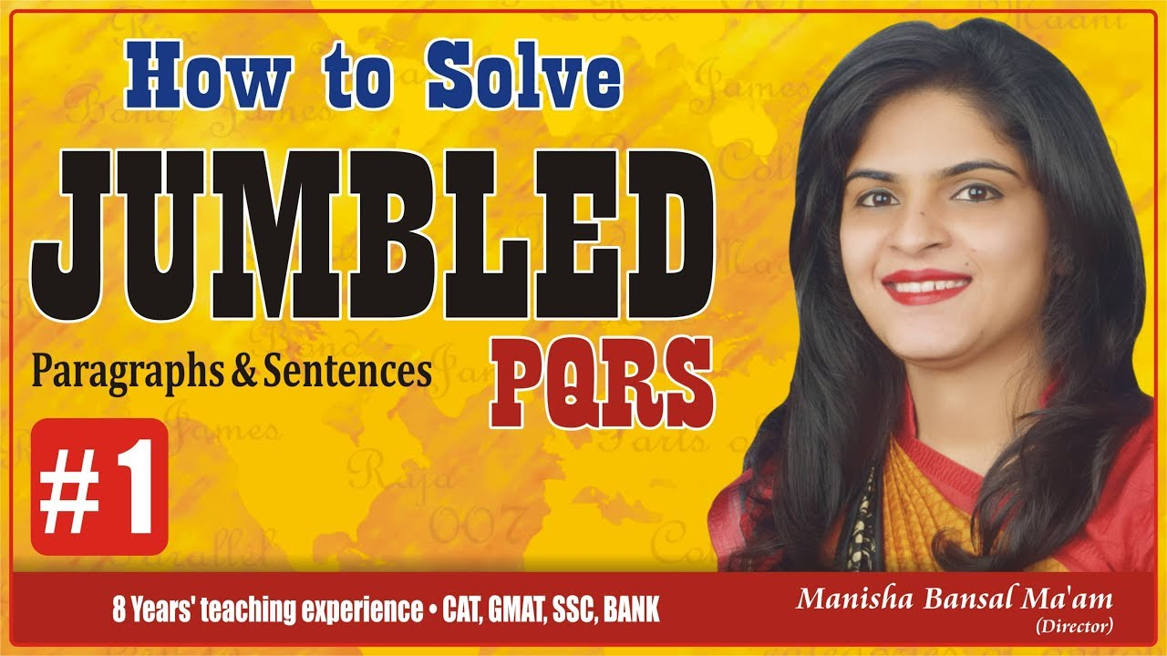 Download How To Solve jumbled |comprehension,100 Previous Questions by Manisha Bansal Ma'am Part #1