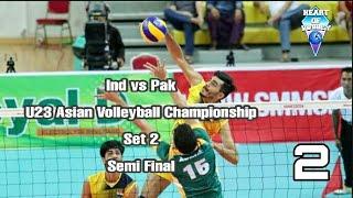 INDIA vs PAKISTAN | U23 Asian Men's Volleyball Tournament | SEMI FINAL | Set Two