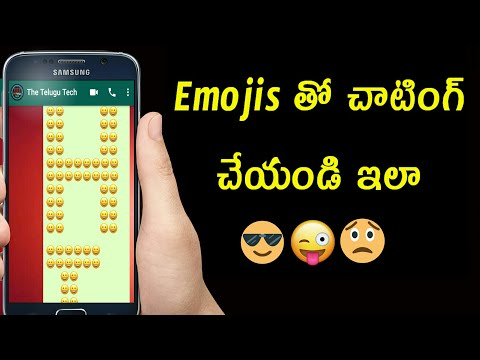 How To Chat With Emojis On What's App And Facebook In Telugu