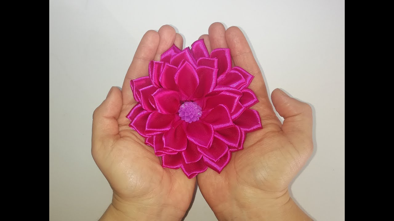 Kwiaty Z Wstazki Satynowej Flowers With Satin Ribbon Diy Youtube