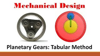 Mechanical Design (Part 7: Tabular Method for Planetary Gears)