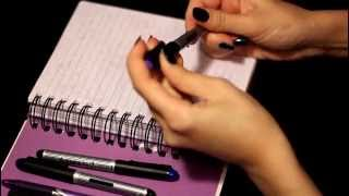 ASMR writing sounds (gum chewing)