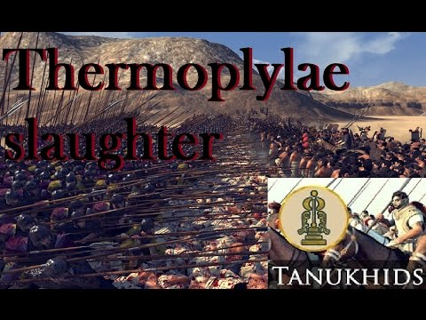 Attila total war: Thermopylae Tanukhid slaughter(blood+gore)(Highest settings, no commentary) |