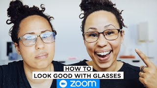 How to Look Good on Zoom with GLASSES [ Day & Night Lighting Set up NO GLARE]