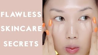 No Foundation! BUT FLAWLESS SKIN | MY 7 ULTIMATE SKINCARE SECRETS