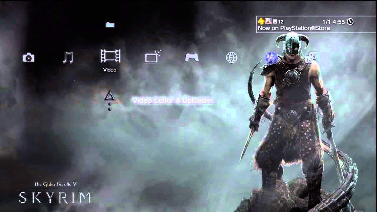 Skyrim Official Dynamic Theme Ps3 Youtube