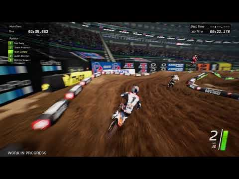 Monster Energy Supercross - The Official Game.  Ryan Dungey racing in Minneapolis