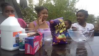 TAKIS SLIME!!! HOW TO MAKE SLIME WITH TAKIS!!! *MUST WATCH * DEIDRA AND DEJA DAILY