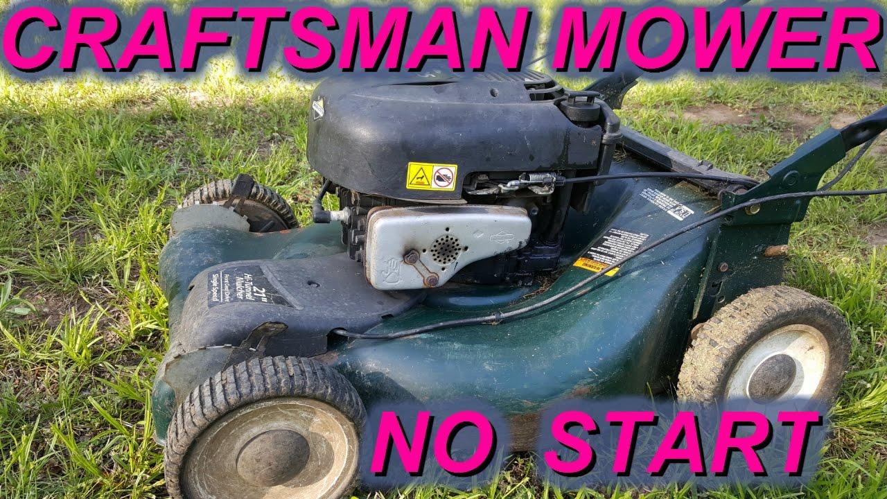 Craftsman Briggs Lawn Mower Not Starting Backfire