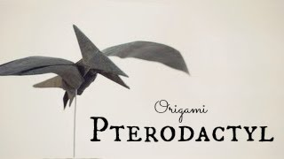 How To Make An Origami Pterodactyl / Pteranodon (tadashi Mori)