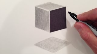 How to Draw a 3D Floating Cube
