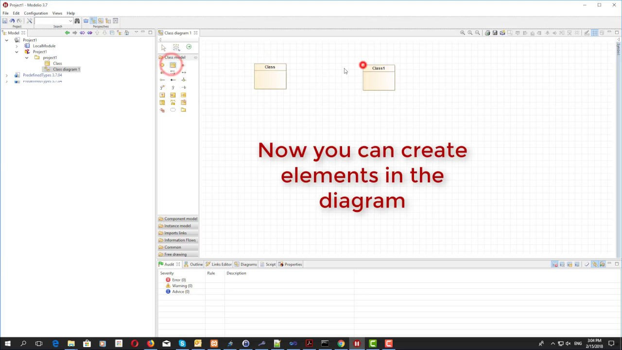Modelio 3x create a uml class diagram in few seconds youtube modelio 3x create a uml class diagram in few seconds ccuart Gallery
