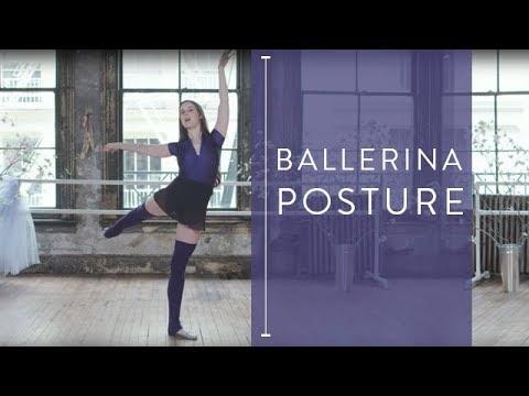 Ballerina Posture for Standing Exercises