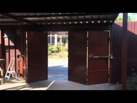 Складные ворота своими руками чертежи видео 602