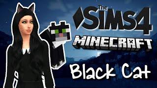 The Sims 4 - Minecraft Black Cat - (Create-A-Sim)