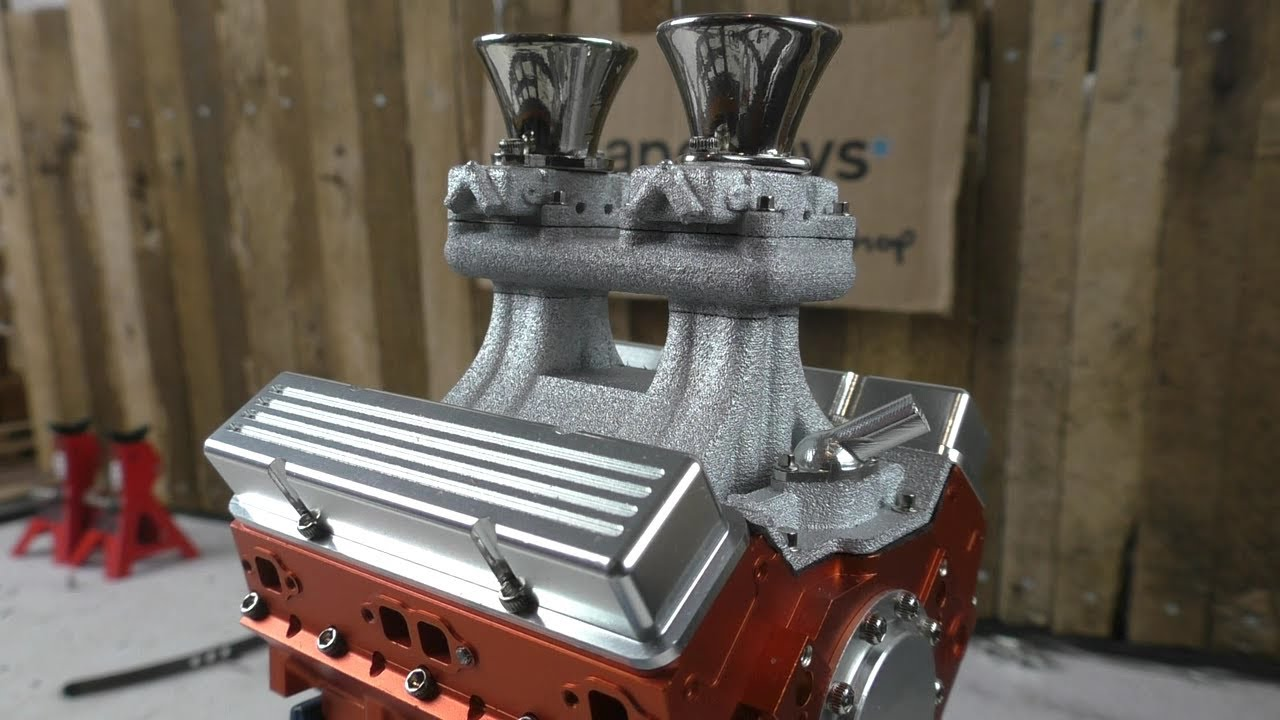 Tunnel Ram for RC4WD V8 engine  Shapeways store  Scale RC parts