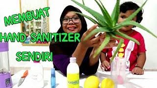 Membuat hand sanitizer dengan bahan alami mudah cepat dan praktis hallo teman apa kabar hari ini una mau buat sendiri bahannya san...
