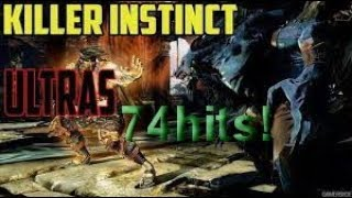 Killer Instinct Definitive Edition Jago 74 Hits Ultra Combo!