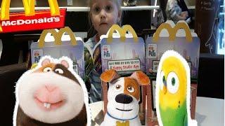 Тайная жизнь домашних животных (2016) Макдональдсе игрушки The secret life of pets toys