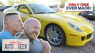 One-of-a-kind Ferrari 599 makes John Cena kiss Eric's head - John Cena: Auto Geek
