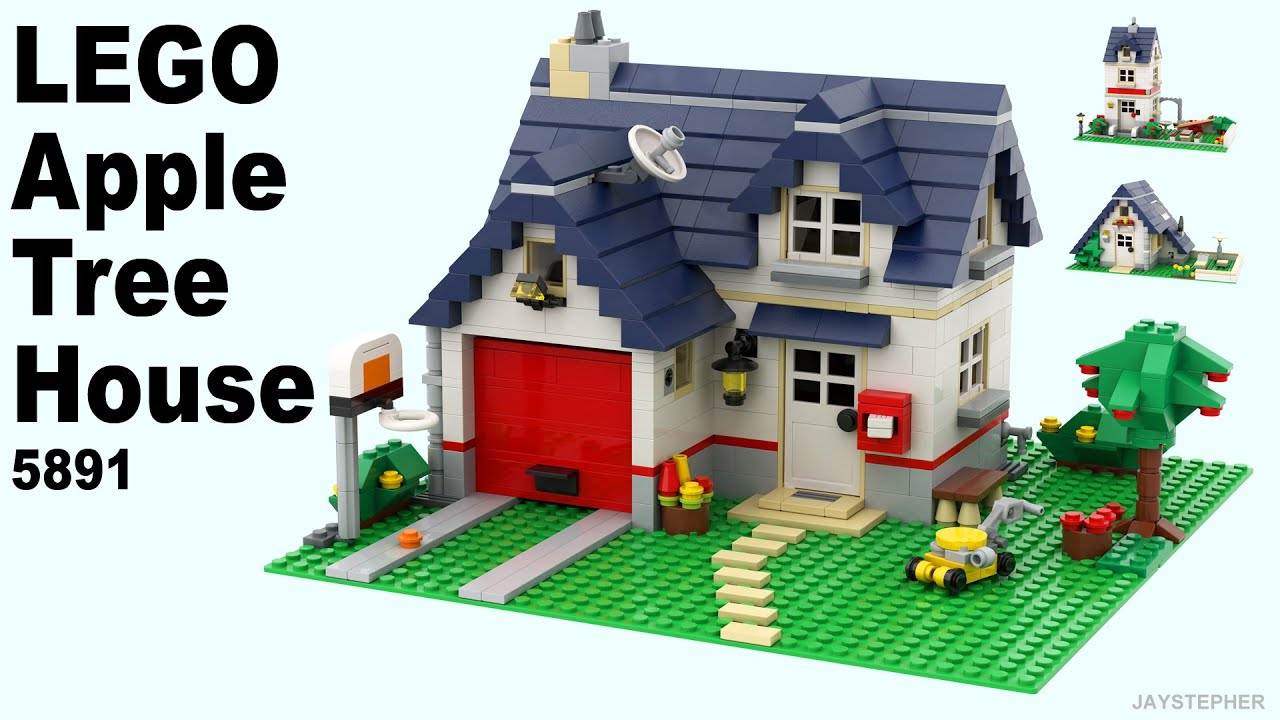 Review Lego Creator Apple Tree House 5891 Cc Youtube