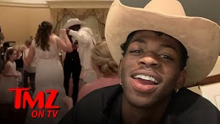 Lil Nas X Makes Surprise Wedding Appearance At Disney World | TMZ TV