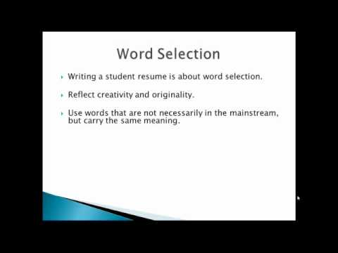 How To Write A Student Resume - Learn How To Write A Student Resume