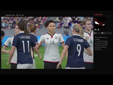 France Vs Germany     WOMEN SOCCER         Ps4 Broadcast (FIFA 16)