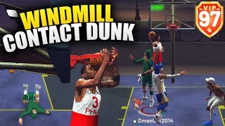 Windmill Contact Dunk! Slashers Hop Step and Euro Dunk! NBA 2K19 Park Gameplay