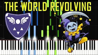 THE WORLD REVOLVING OST Deltarune (Jevil Secret Boss Theme) [Synthesia Piano Tutorial]