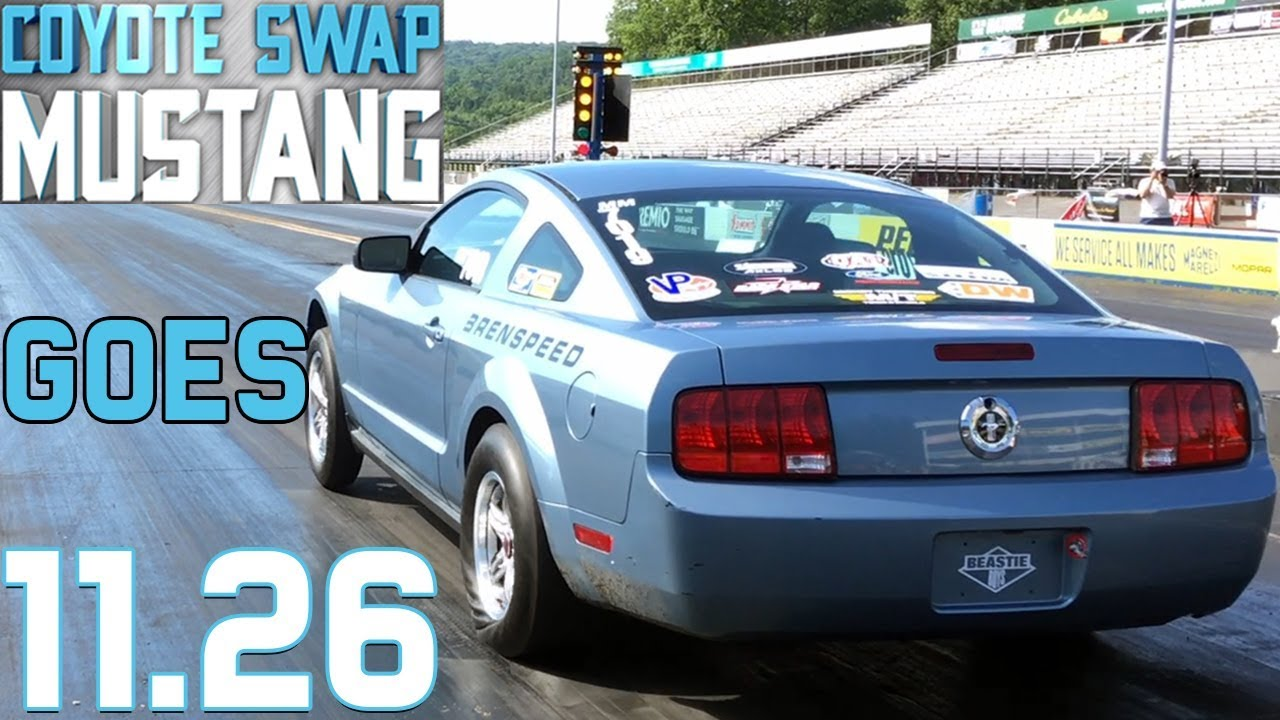 Coyote Swap Mustang New Best ET & Info On Launching (Clutch Set Up) at  Brenspeed