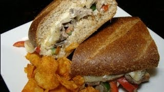 Philly Cheese Steak Sandwich - Steak, Onion And Bell Pepper Sandwich With Cheese