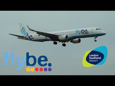 ✈ First Flybe Embraer ERJ-195  Arrival at London Southend Airport 30/04/2017