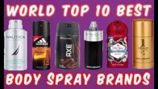 world top 10 best body spray brands & compnies with sweat & long lasting fragrance 2018