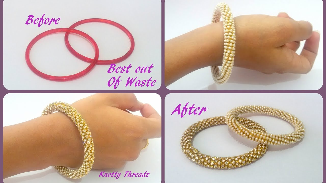 Awesome DIY Crystal Tube Bracelet foto