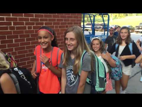 Plaza Middle School First day of school 2016-2017