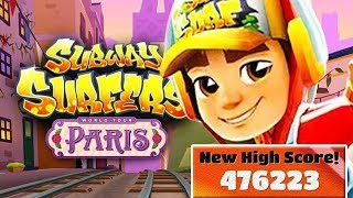 SUBWAY SURFERS PARIS JAKE RECORD HIGH SCORE (476223) MEGA RUN GAMEPLAY