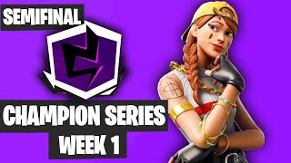 Fortnite Champion Series Trio Week 1 Highlights Semifinals Game 1 NA East [Fortnite Tournament 2019]