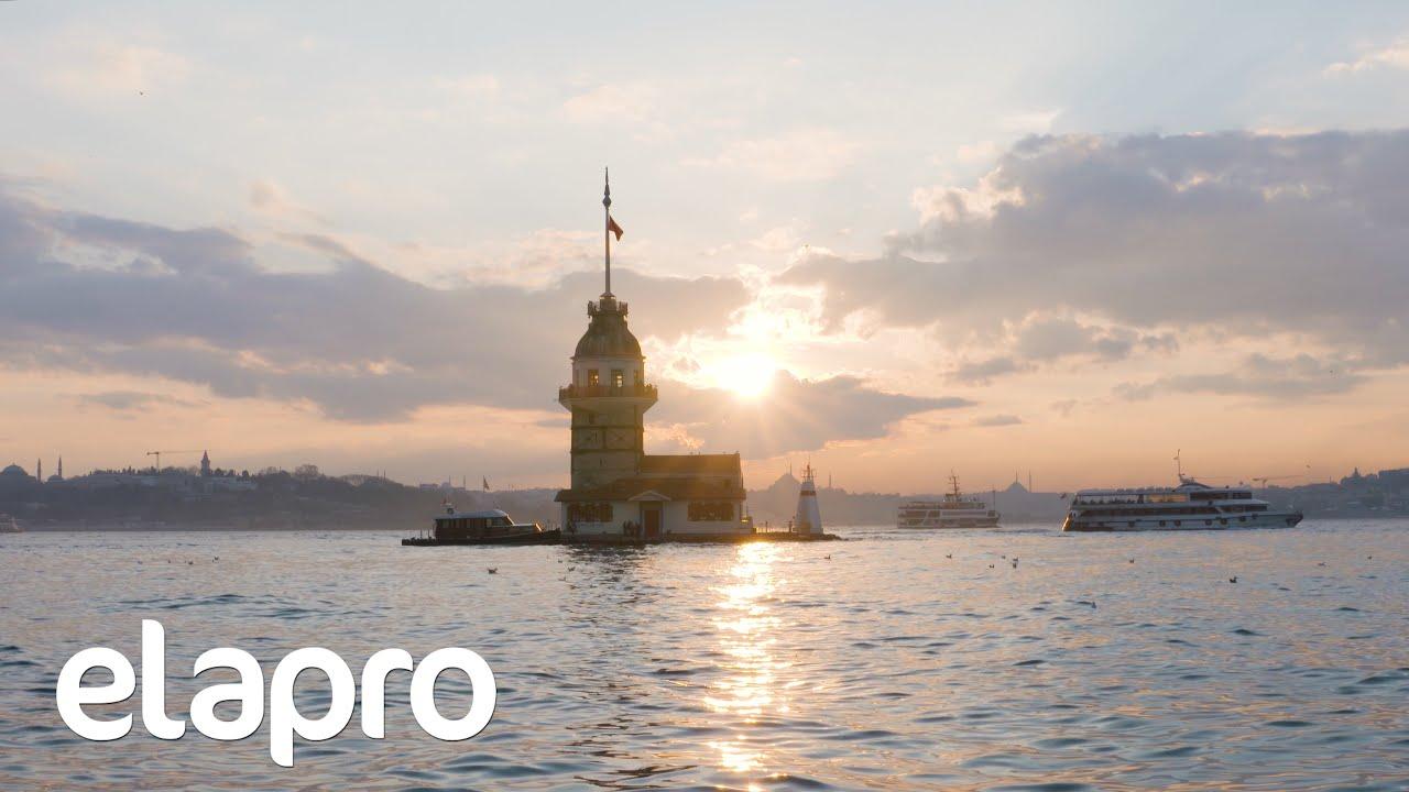 Kız Kulesi Günbatımı 1 Saat / Maiden's Tower 1 hour (Istanbul - Turkey) Relaxing Video