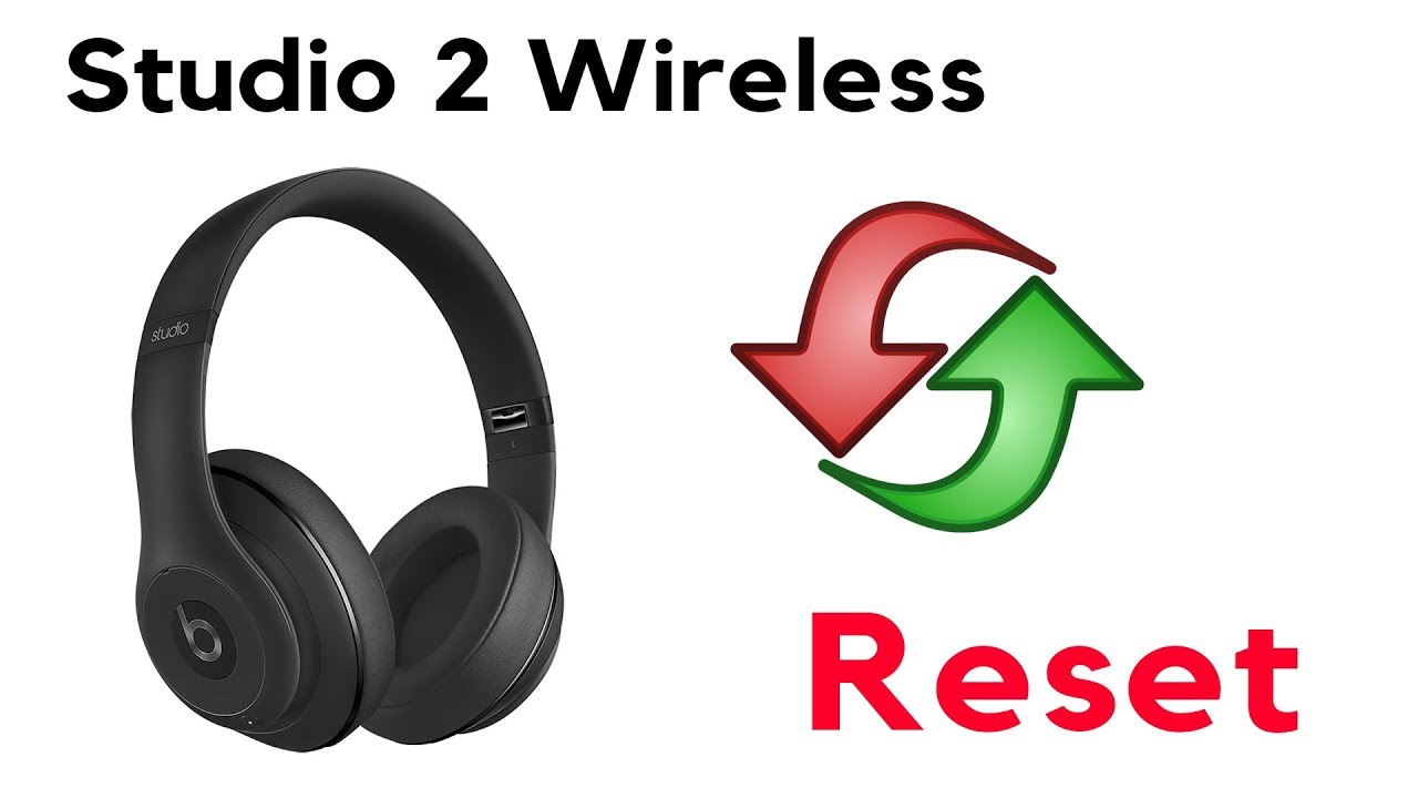 Red Light Flashing How To Reset Your Beats By Dre Studio 2 Wired Wireless Headphones Youtube
