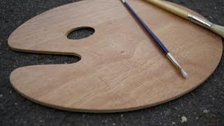 Preparing a Wooden Painter